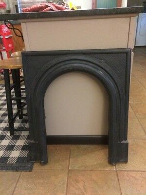 Vintage Decorative Cast Iron Fireplace Door Frame Surround