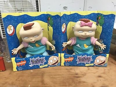 1997 Phil & Lil Deville Rugrats Dolls Still In The Box Nickelodeon Toys