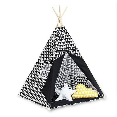 Teepee Set with floor mat - Black&White