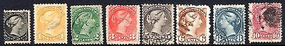 CANADA 1870-1893 QV Issues Used
