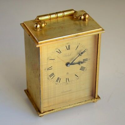 Vintage Bucherer Imhof Swiss Made 8 Day Alarm Clock Working Great !!!