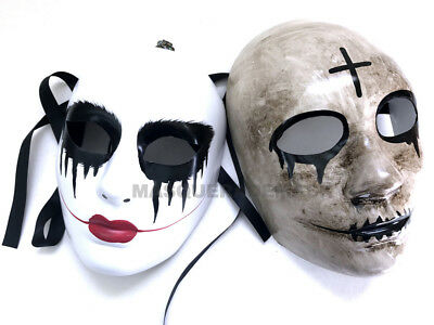The purge God Cross mask Anarchy movie horror Kiss me Halloween Costume prom