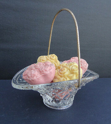 Avon FLOWER BASKET WITH SOAP Soap Dish Nice!!