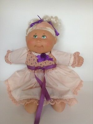 """Blonde Cabbage Patch 18"""" Doll Xavier Roberts 2004 Green Eyes"""