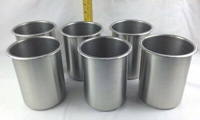 Qty 6 Vollrath Bain Marie 2 Qt Stainless Steel Pot 78720 Free Shipping