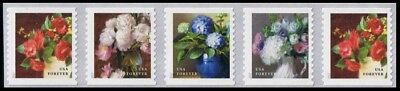 2017 US STAMP-Flowers from the Garden-Forever Strip of 5- Scott 5233-36-3K COIL#