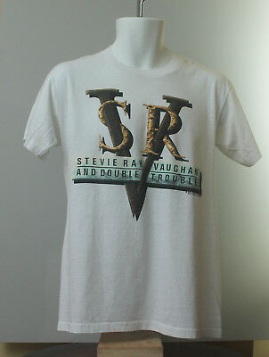 1989 Stevie Ray Vaughan and Double Trouble In Step Photo Concert Shirt!