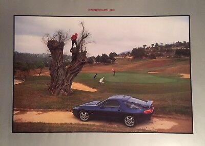 Porsche 928 GTS Coupe Showroom Advertising Poster