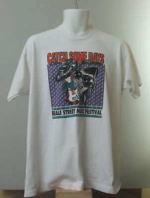 1990 Beale Street Music Festival Shirt Stevie Ray Vaughan Double Trouble!