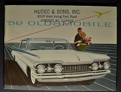 1959 Oldsmobile Small Brochure Super 88 Dynamic 98 Holiday Excellent Original 59