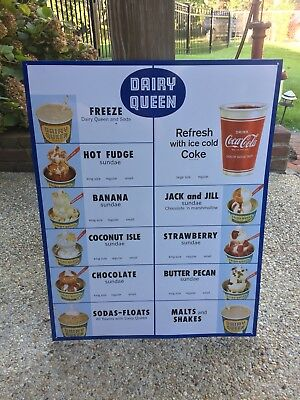 Dairy Queen Cola Cola Cup Sign