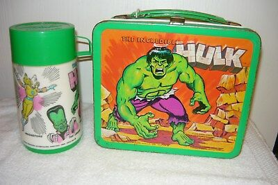 Vintage Marvel THE INCREDIBLE HULK 1978 Lunchbox with Thermos Aladdin
