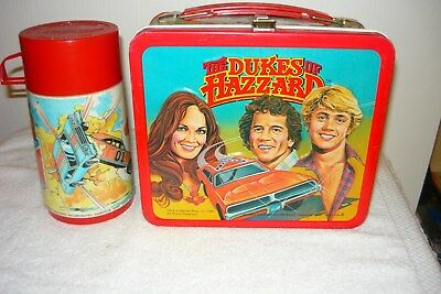Vintage The Dukes Of Hazzard Steel Lunch Box With Thermos 1980
