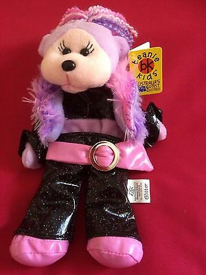 "Skansen Beanie Kids   "" GLITTER the DISCO Bear  """