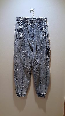 Vintage Nike Air Force Denim PANTS Size XL 1980s CRASH THE BOARDS Rare!