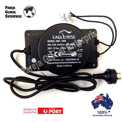 12 volts  TRANSFORMER 105 W WEATHERPROOF IP 66 POOL LIGHT GARDEN LIGHT