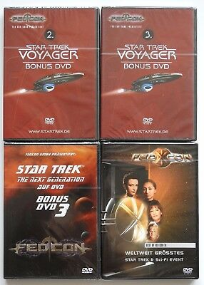 Star Trek Voyager & The Next Generation TNG - Fedcon 11 & 3x Bonus DVD - Neu OVP