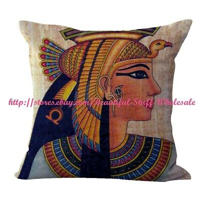 US SELLER-Ancient Egyptian Queen Cleopatra cushion cover pillow cases decorative