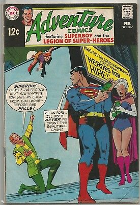 Adventure Comics #377 DC (1969) Silver Age Comic Book FN/FN+