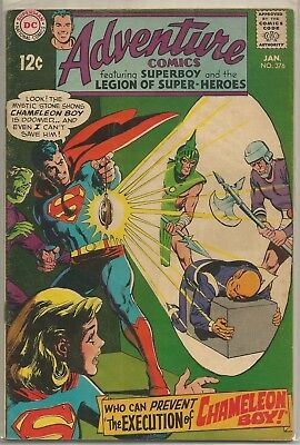 Adventure Comics #376 DC (1969) Silver Age Comic Book FN+/VF-
