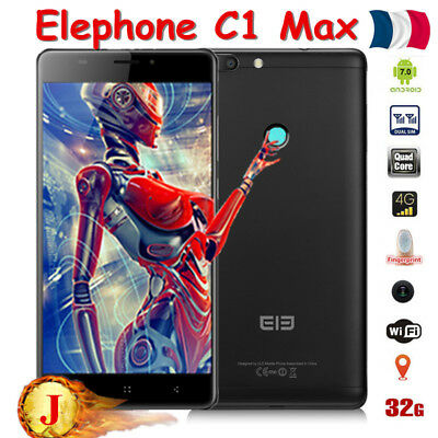 "Neuf 32GB up to 64GB 3*caméra 6.0"" Elephone C1 Max Android7.0 Téléphone 4Core 4G"