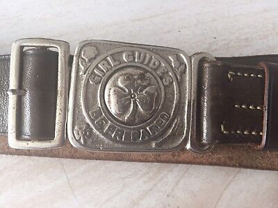 VINTAGE 1930'S GIRL GUIDES BELTS , one very rare WHISTLE