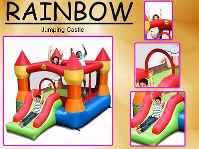 9017 Happy Hop Jumping Castle (Rainbow)