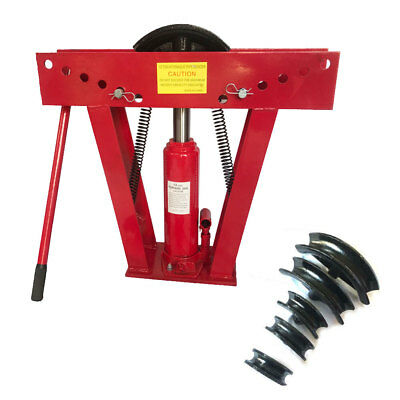 12 Ton Hydraulic Pipe Benders Manual Exhaust Bender Tubing Tube Bending w/6 Dies