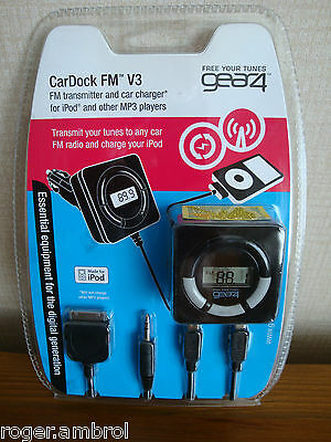 Gear4 Cardock Fm Transmitter Charger For Ipods And All Mp3 Players Free Uk Post