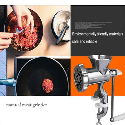 Heavy Duty Mini Hand Operated Grinder Aluminium Kitchen Meat Mincer Beef Maker