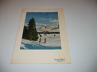 Canadian Pacific Airlines, Souvenir Menu, Player`s Canary Island, 1964