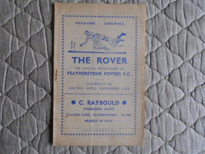 Featherstone V Doncaster Rugby League Match Programme February 1953