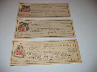 3 Promise To Pay , Usa, With Stamps, Farmer And Merchants Bank