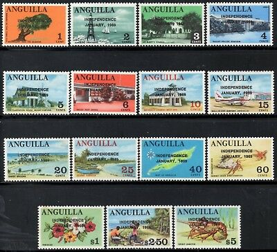 Anguilla 1969 Independence SG.17/31 Overprinted Mint (Hinged)