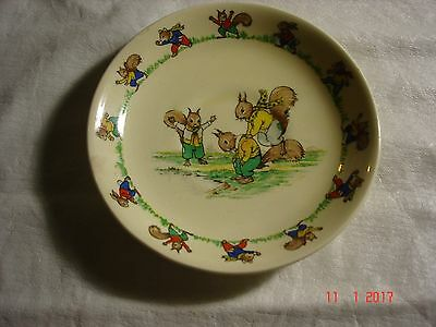 Vintage Jolly Jinks Saucer Squirrels Playing Ridgway England, Vg Used Condition
