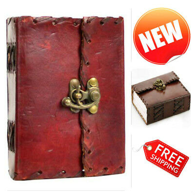 Leather Blank Book Journal Handmade Pocket Diary Notebook Planner Writing Pad