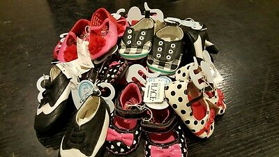 Wholesale lot Baby Shoes, Boy Girl 12 Piece  All New with Tags