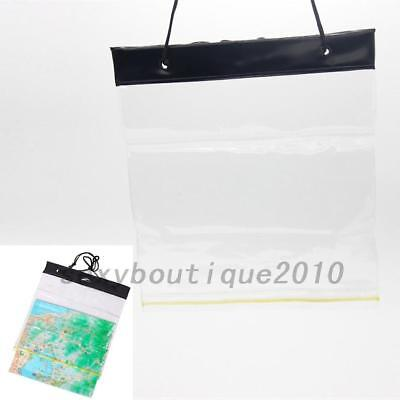 Outdoor Waterproof Map Document Case PVC Cargo Transparent Seal Pocket Pouch New