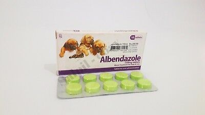 Albendazole 150mg - Dog & Cat worm treatment (Dewormer) - 10 Tablets