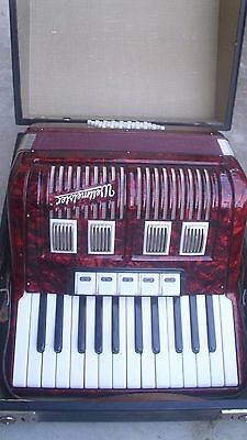 Top Vintage  German Piano Accordion Weltmeister 40 Bass  5 Registers  With  Case