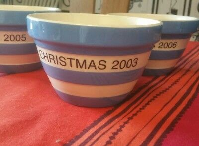 original cornish blue T G GREEN pudding bowl 2003 30oz special edition