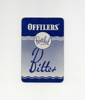 Single Offilers'  Playing Card. Offilers Bottled Bitter.Derby
