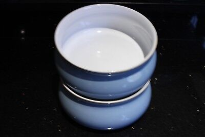 Denby Pottery COLONIAL BLUE Large  Serving Bowl * 2