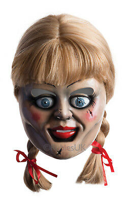 Annabelle Face Mask and Wig with Plaits - The Conjuring Film - 36561