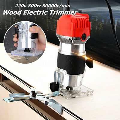 Electric Wood Laminator Router Corded Hand Trimmer Joiners Tools 1/4'' 220V 800w