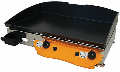LPG Gas  Griddle Hot Plate Barbecue 65x40 cm Professional