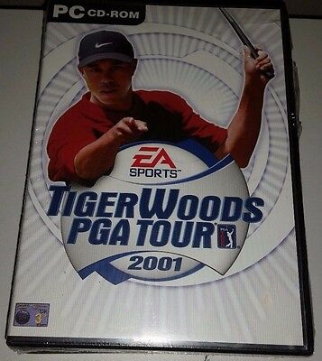 New Sealed EA Sports Tiger Woods PGA Tours 2001 Pc CD Rom Game