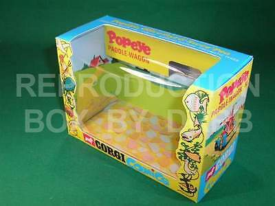 Corgi #802 Popeye's Paddlewagon - Reproduction Box by DRRB