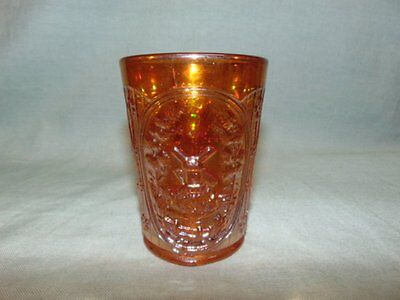 "Vintage Imperial Marigold Carnival Glass ""Windmill"" Tumbler"