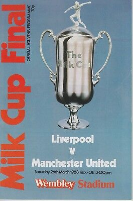 LIVERPOOL v MANCHESTER UNITED ~  LEAGUE CUP FINAL ~ 26 MARCH 1983 (2)
